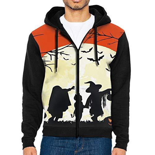 Men's Hooded Sweatshirt Halloween Hoodies L -