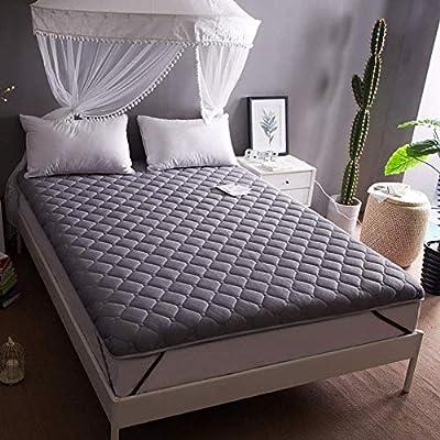 LINLIN Colchón Grueso cálido y Plegable Tatami a Temperatura Constante cálido Antideslizante tapete para Cama de protección,Gray,150 * 200CM