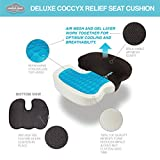 Comfort Cloud OPDX Coccyx Cushion Hybrid Gel, Breathable Mesh, Memory Foam Non-Slip Bottom Seat Cushion with Cover