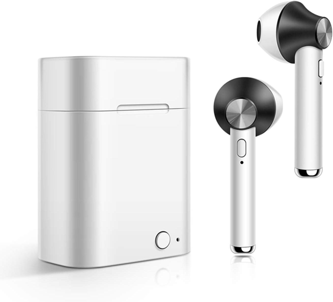 Auriculares Bluetooth Inalámbrico, iAmotus Auriculares Bluetooth Inalámbricos Mini Twins Estéreo In-Ear Bluetooth 5.0 con Caja de Carga Portátil Y Micrófono Auriculares Deportes para iPhone y Android