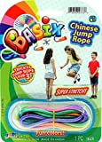 2CHILL Chinese Jump Rope (Bulk Pack of 24 ) Jumping Game for Kids I Plus 1 Small Collectable Bouncy Ball by JA-RU | Colorful Stretch Rope | Item