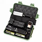 Tactical Flashlight Super Bright G700 X800 LED Zoom Military Grade Flashlights 5000 Lumens with 2 Rechargeable 18650 Lithium Ion Batteries and Charger - Water Resistant (Black)