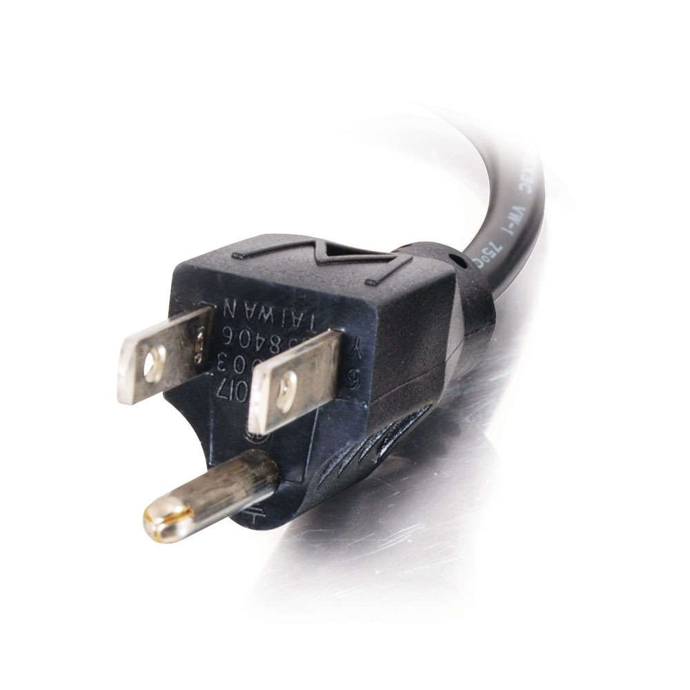 C2G/Cables to Go 28593 18 AWG Universal Right Angle Power Cord for NEMA 5-15P to IEC32013R, Black (14 feet/4.26 Meters) by C2G/Cables To Go (Image #4)