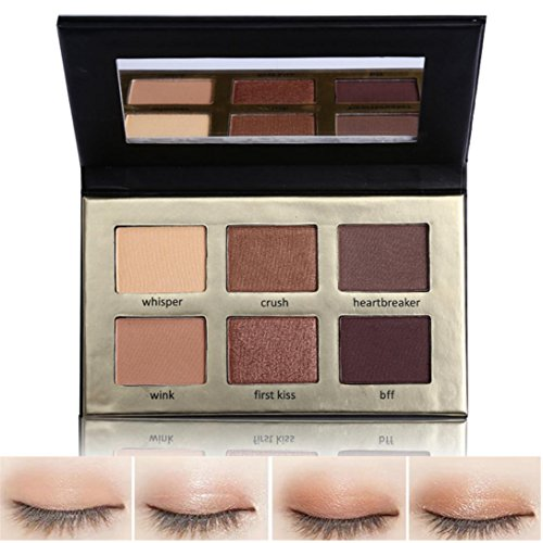 Best Pro Eyeshadow Palette Makeup - Matte + Shimmer 6 Colors