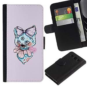 // PHONE CASE GIFT // Moda Estuche Funda de Cuero Billetera Tarjeta de crédito dinero bolsa Cubierta de proteccion Caso Samsung Galaxy S3 III I9300 / 3 Eyed Cat /