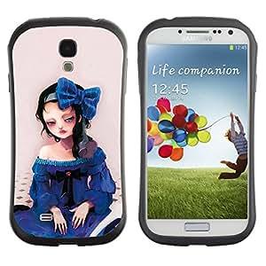 Suave TPU GEL Carcasa Funda Silicona Blando Estuche Caso de protección (para) Samsung Galaxy S4 I9500 / CECELL Phone case / / Cute Sad Girl /
