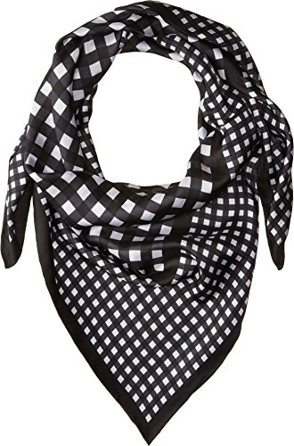 Gingham Silk - Kate Spade New York Women's Gingham Silk Square Black One Size