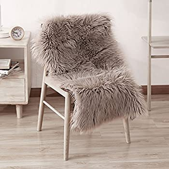 Amazon Com Ojia Deluxe Soft Faux Sheepskin Chair Cover