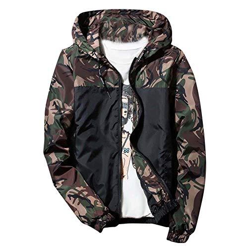 Mens Windbreaker Coat - YOcheerful Men's Track Jacket Winter Hoodie Waterproof Windproof Outdoor Coat Jacket Outerwear(Army Green,S)