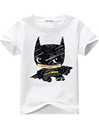 Toddler T-shirt for Batman Fans Superhero Graphic Short Sleeve Cotton Tee by Sun Baby