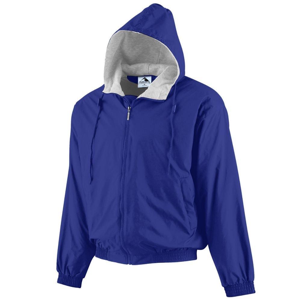 Augusta Sportswear Unisex-Adult Hooded Taffeta Jacket/Fleece Lined, Purple, X-Large