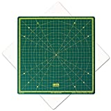 Cutting Mat, Self Healing Cutting Mat, Hobby Cutting Mat, Sewing Cutting Mat, Rotatable Cutting Mat Imperial 13 inch x 13 inch - Green