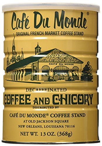 Cafe Du Monde Coffee Decaf And Chicory, 13-Ounce can  (Pack of 3)