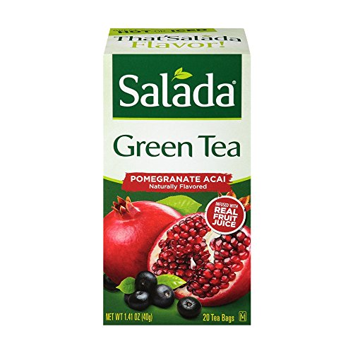 (Salada Decaf Pomegranate Acai, 20 Tea Bags (Pack of 6). Packaging May Vary.)