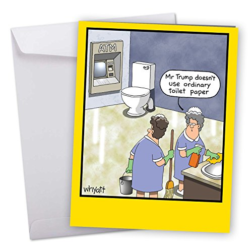 Price comparison product image J8298BDG Jumbo Funny Birthday Card: Trump Ordinary Toilet Paper With Envelope (Extra Large Version: 8.5'' x 11'')