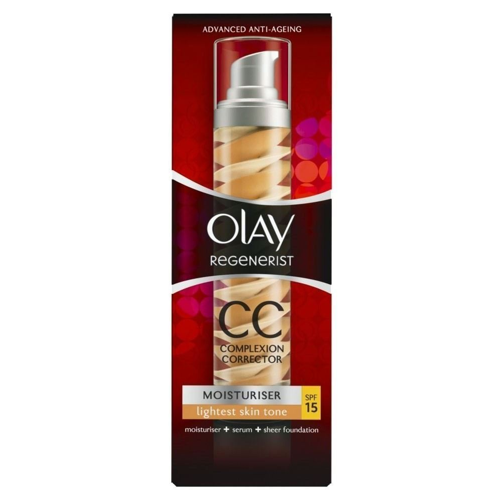 Olay Regenerist CC Cream Complection Corrector for Lightest Skin Tone SPF 15 (50ml) Grocery