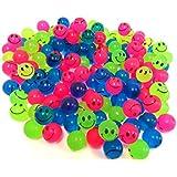 Mini Neon Smiley Face Bouncing Balls (144 Balls) By Dondor