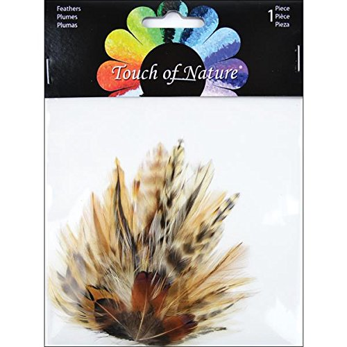 Pheasant Feather Pad (Touch of Nature Petite Feather Pad, 4.5 by 3.5-Inch, Natural Hackle and Ringneck Pheasant)