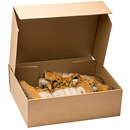 05f650a9c2e 15 x Large Brown Cardboard Boot   Shoe Boxes - 420mm x 356mm x 127mm  Amazon .co.uk  Kitchen   Home