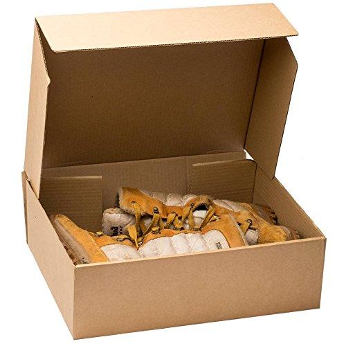 15 x grande marrón cajas de cartón para/de zapatos - 420 mm x 356 mm x 127 mm: Amazon.es: Hogar