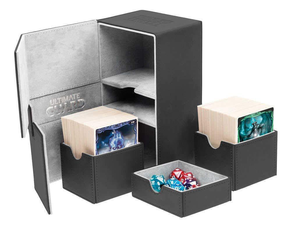 Deck Box: Twin Flip N Tray Xeno 160+ Card Game, Black