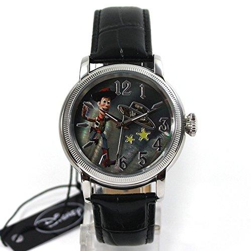 Disney Toy Story Woody automática reloj de pulsera para coleccionistas de relojes de cuero