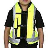 XMT-MOTO Black&Yellow Air bag Motorcycle Protect Airnest Airbag Vest Hi Viz