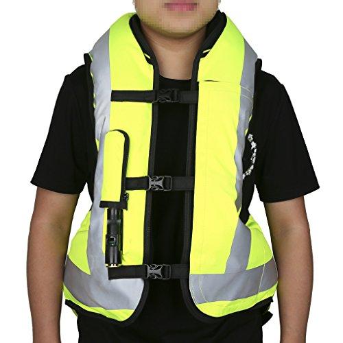 XMT-MOTO Black&Yellow Air bag Motorcycle Protect Airnest Airbag Vest Hi Viz by XMT-MOTO