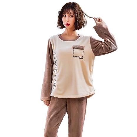 Señoras Pijamas Moda Femenina De Terciopelo Super Suave ...