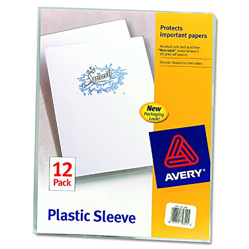 Avery Plastic File Folder (Avery Plastic Sleeves, Clear, Pack of 12 (72311))