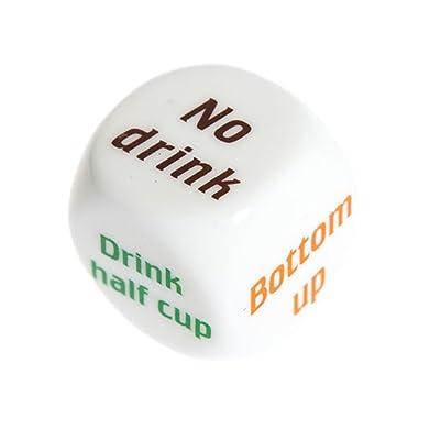 TONVER 1 pieza de juego de dados inglés beber vino adulto barra de juegos fiesta Pub amantes de los dados divertidos juguetes 2 cm, plástico, S, 1 pieza: Hogar