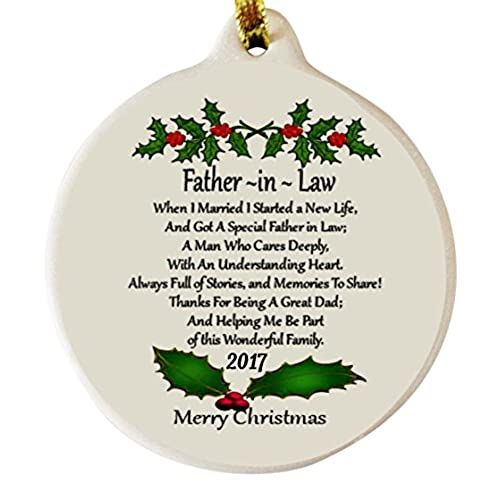 father in law 2017 porcelain christmas ornament gift boxed rhinestone crystal detail - Father In Law Gifts For Christmas