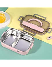 Lunch Box,Bento Box for Students, Thermal Insulation Lunch Bento Box Kids Adult,Lunch Containers for Children Leak-proof Lunch Box Stainless Steel Utensil Set