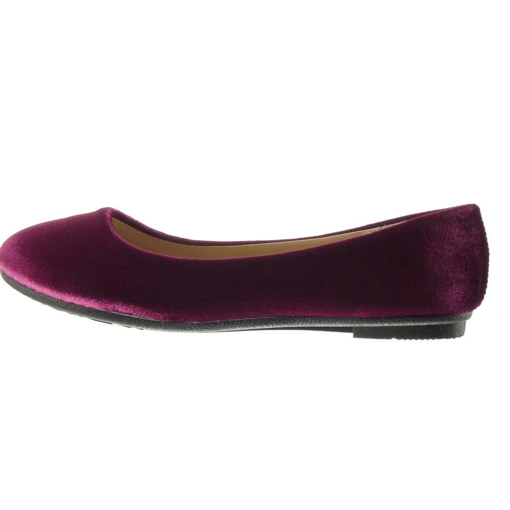 Chaussure Mode Ballerine Slip-on Femme Talon Plat 1 CM Angkorly