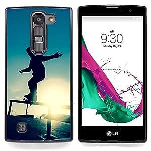 "Skate Sunset"" - Metal de aluminio y de plástico duro Caja del teléfono - Negro - LG Magna / G4C / H525N H522Y H520N H502F H500F (G4 MINI,NOT FOR LG G4)"