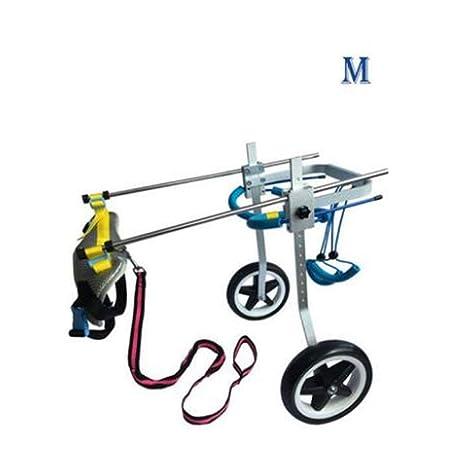 MKJYDM Mascota con ciclomotor Perro Silla de Ruedas Perro ...