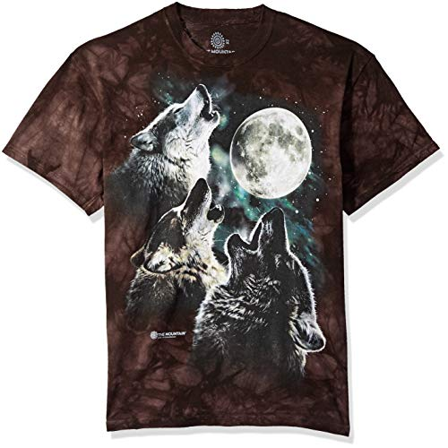 - The Mountain Three Wolf Moon Adult T-Shirt, Black, Medium
