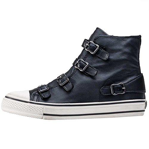 Ash Footwear Virgin Black Leather Buckle Trainer 40EU/7UK Black