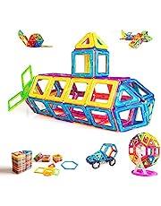 Condis Magnetiska Byggklossar 95 St, Magnetiska Byggstenar Magneter Barn Magnetiska Leksaker Byggblock för Barn 3 4 5 6 7 åring Flicka Pojke Kille Pedagogiska Byggsatser till Treåring Pojkar Flickor