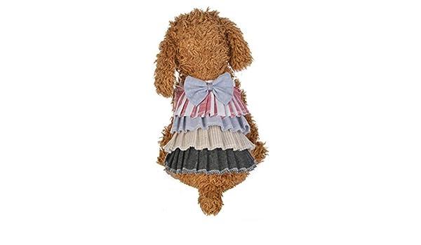 SunGren Falda para la mascota de primavera y verano vestido de falda de la torta del arco Falda de la torta del animal doméstico Disfraces de perros Ropa ...