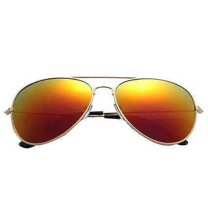 Gafas de sol polarizadas para hombre y mujer, diseño de metal retro, protección UV