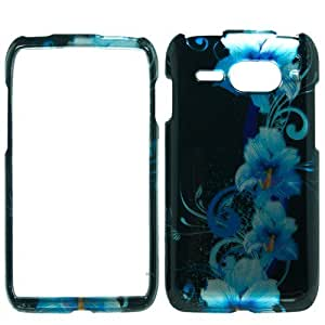 Snap on Design Hard Case Cover Faceplate For Kyocera Event C5133 - Blue Flowers