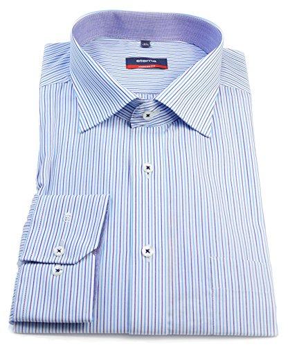 eterna - Camisa formal - Rayas - Clásico - para hombre turquesa