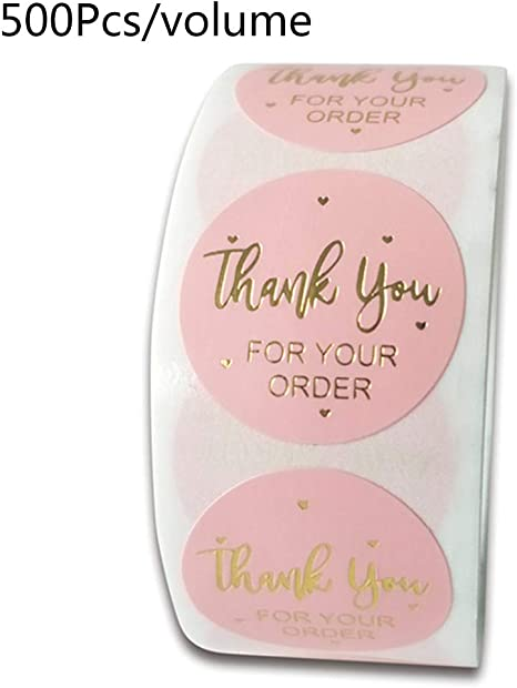 500pcs Thank You for Your Purchase Stickers Gold Foil Seal Label Scrapbooking