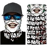 FDelinK Seamless Bandanas Face Mask Headband Scarf Headwrap Neckwarmer for Fishing, Hiking, Running, Motorcycling (D)