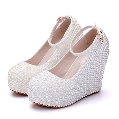 Heel cassé blanc Plateforme 10cm Ivory femme Minitoo YPqnv4wnA