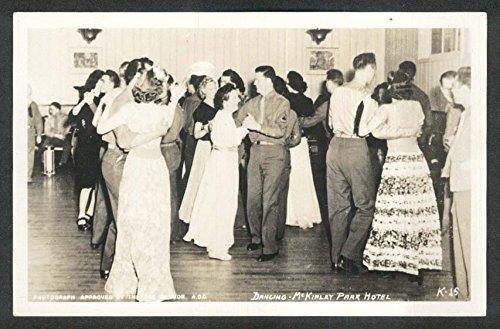 Dancing McKinley Park Hotel RPPC postcard 1940s