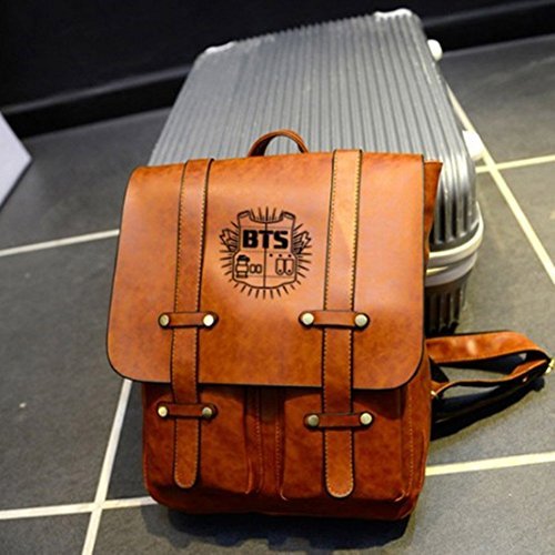 BTS Brown Sky Satchel Schoolbag Bangtan Casual Laptop Bags Backpack Daypack Starry Boys Kpop 7qU1d7