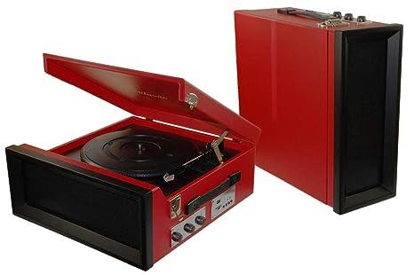 Dorex 8279 - Tocadiscos, Color Rojo: Amazon.es: Electrónica