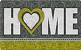 Toland Home Garden Heart of the Home Gold 18 x 30 Inch Decorative Floor Mat Swirl Love Doormat